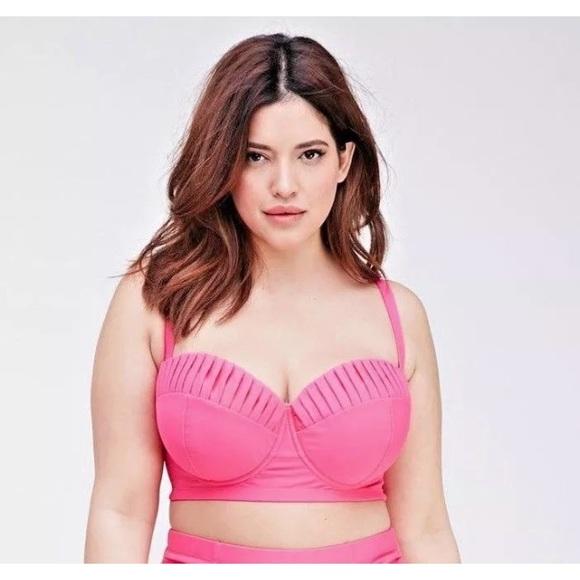 1881314cad Forever 21 Swim | Hot Pink Corset Style Bikini Top Plus Size | Poshmark